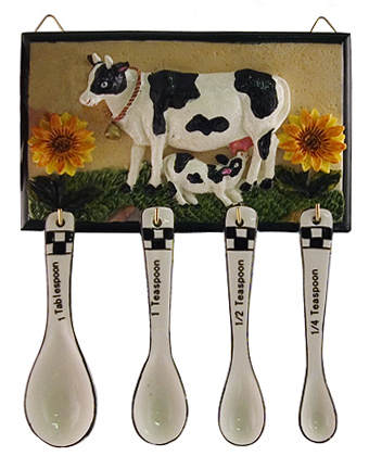 cow kitchen measuring spoons