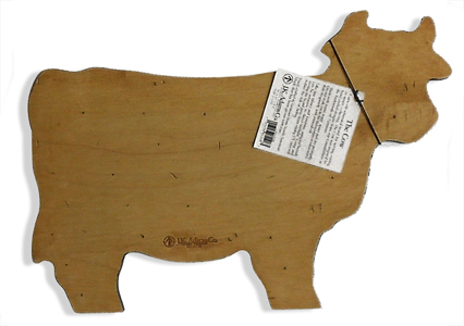 cow wood serving tray