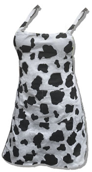 cow waitress apron