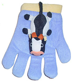 cow bath glove