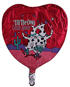 cow party mylar balloon valentines day