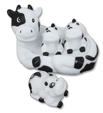 Cow Kids Bath Toy Set