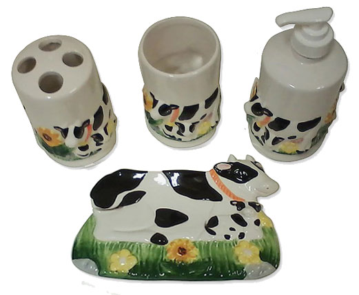 gift cow bath set
