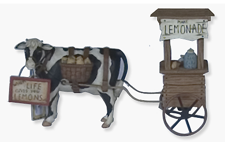 cow lemonade statue