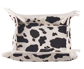 cow kitchen bread basket