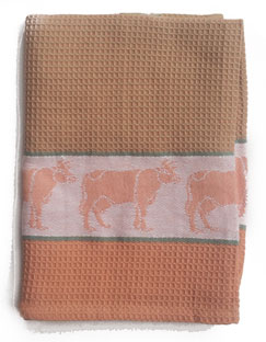 brown cow kitchen towel