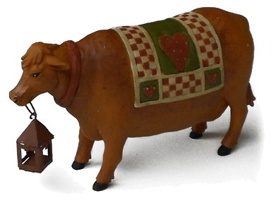 cow miniature statue