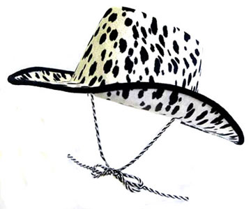 ladies cow party hat drawstring