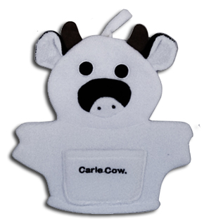 cow bath mitt