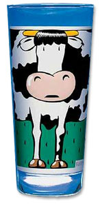 cow kitchen glass