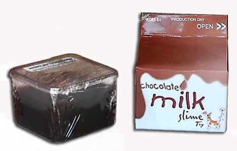 cow chocolate milk slime party favor