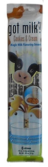 cookies and creme flavored cow straw