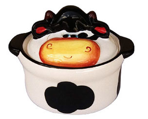 cow porcelain kitchen pot decoration