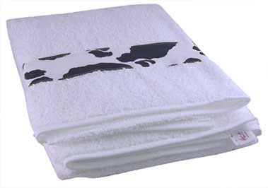 cow guest towel
