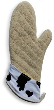 heavy duty cow oven mitt