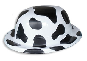 cow english style derby party hat