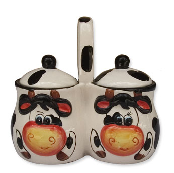 cow porcelain sugar kitchen