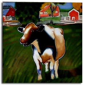 cow ceramic tile