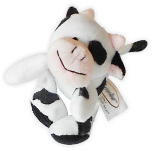 cow kids magnetic plush