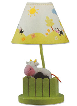 cow baby lamp