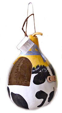 cow bird feeder