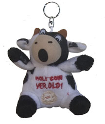 cow yer old key chain birthday