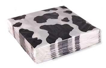 cow party paper dessert napkin  sc 1 st  Cow Depot & Cow Print Party Supplies and Favors