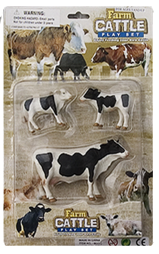 cow party toy standing figurines