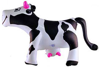 inflatable 3D blow up party cow