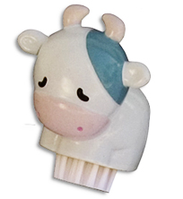 kids cow nail brush