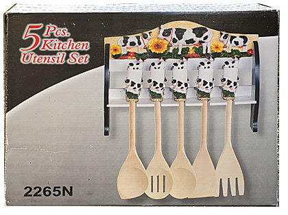 cow kitchen utensil holderr