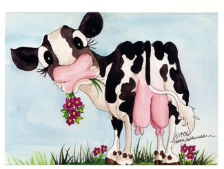 Lisaudderg cow udder greeting card bookmarktalkfo Images