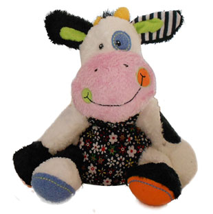 cow kids colorful plush