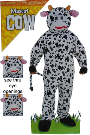 cow large mascot paarty costume