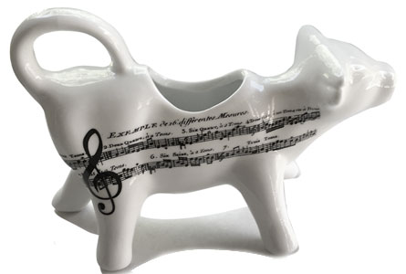 cow music note pattern creamer