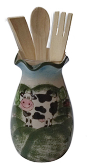 cow kitchen utensil holder