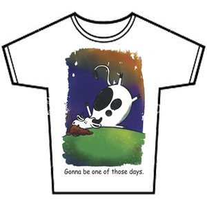 cow print party tee shirt