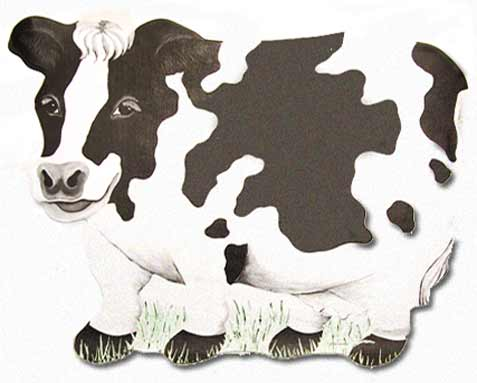 Cow party paper placemat