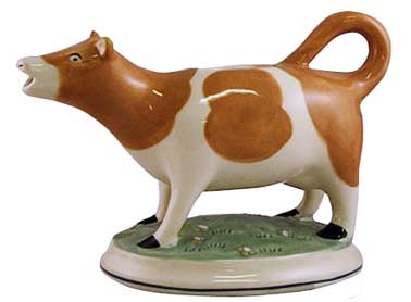 brown cow porcelain