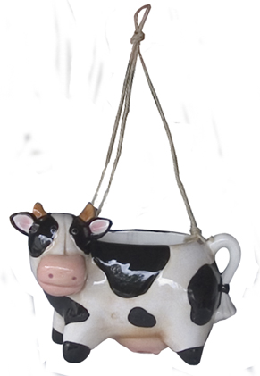 cow hanging planter