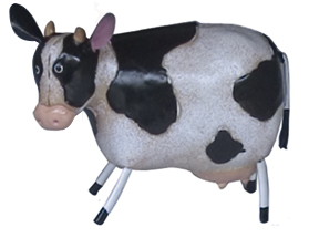 cow metal sculpture
