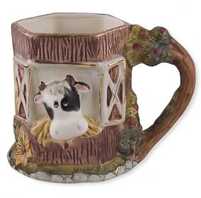 cow red barn mug