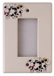 cow light switch cover