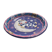 cow party paper dessert plate