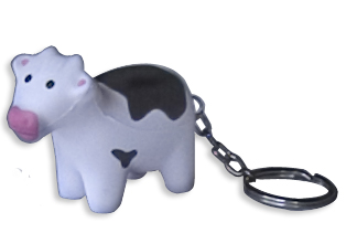 cow squeezie keychain
