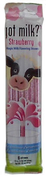 strawberry cow flavored straw