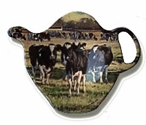cow teabag holder