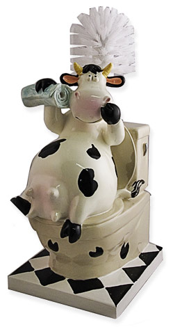 cow toilet brush