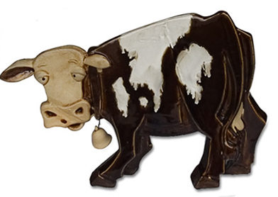 cow glass statue
