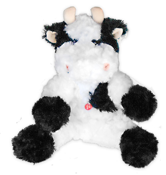 mooing cow kids toy plush